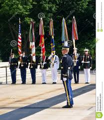 Color Guard Flags Military Color Guard Arlington Editorial Image Image 55999795