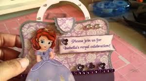 sofia the 1st purse invitation youtube