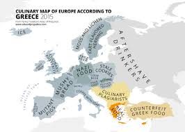 Greece World Map by Culinary Map Of Europe According To Greece From Yanko Tsvetkov U0027s