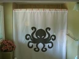 Custom Size Shower Curtains Octopus Shower Curtain Tentacle Eight Ocean Cephalopod Sea
