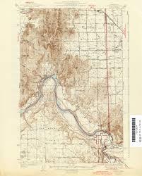 Map Of Spokane Washington Washington Historical Topographic Maps Perry Castañeda Map