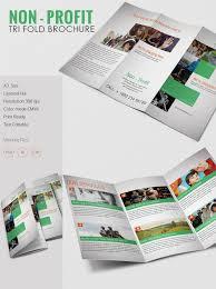 fold brochure template amazing non profit a3 tri fold brochure template non