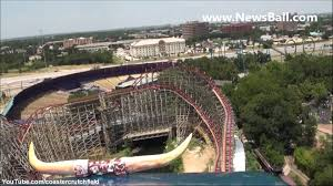 Six Flags Texas Death Raw Vid Front Row On The Texas Giant Roller Coaster Six 6 Flags