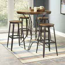 Outdoor Bar Table And Chairs Set Ideas Comfortable And Anti Scratch With Wrought Iron Bar Stools