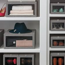 grey linen closet starter kit the container store
