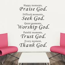 bible wall stickers home decor praise seek worship trust thank god