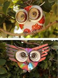 upcycle make an owl owl bottle top and fruit trees