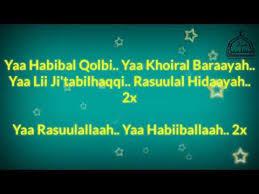 Ya Habibal Qolbi Lirik Ya Habibal Qolbi Syubbanul Muslimin Duet Vocal Guz Azmi