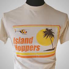 themed t shirts island hoppers magnum pi tv themed retro t shirt classic tc hawaii