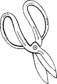 garden coloring page scissors sketch coloring page