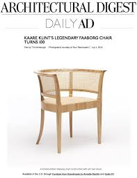 iconic chairs architectural digest daily ad faaborg chair suite news