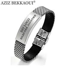 man rubber bracelet images Laser engrave name id bracelet personalized name bracelet for men jpg