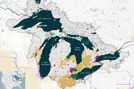 Map Of Lake Superior The Great Lakes States Freshwater Society