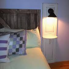 Bedroom Reading Light Master Bedroom Up Cycled Bi Fold Doors Turned Reading Light W