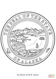 alaska state seal coloring page free printable coloring pages