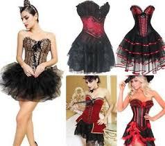 Burlesque Halloween Costumes Burlesque Corset U0026 Tutu Fancy Dress Party Halloween