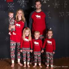 pajamas for family matching set deer