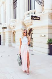 Blush Chiffon Maxi Skirt The High Slit Trend Rules Here Is Why And Ideas Just