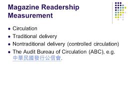 audit bureau of circulation usa evaluation of print media ppt