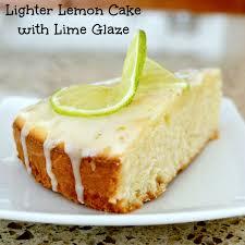 skinny lemon cake recipe with easy lime glaze