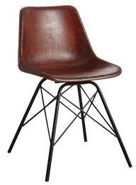 chaise cuir blanc chaise en cuir marron et métal