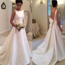 wedding dress simple wedding dress plain simple beige simple sleeve satin plain