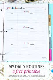 printable evening schedule my daily routines routine create and easy