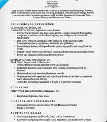 Truck Driver Resume Example by Strikingly Inpiration Truck Driver Resume 9 Truck Driver Resume