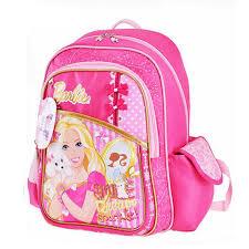 princess barbie bag girls quality canvas cartoon