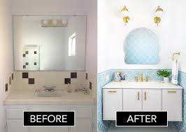 Before After Bathroom Makeovers - before after a dated bathroom gets a glamorous update