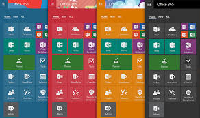 new office 365 app launcher adds tabbed layout resize able