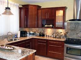 Crystal Kitchen Cabinets by Kitchen With Wood And Granite Island Gourmet Kitchens And Cabinets