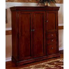 Solid Wood Computer Armoire by Ashley Furniture Computer Armoire Styles Yvotube Com