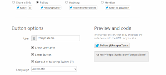 membuat widget twitter di website cara membuat widget tombol follow twitter di website res team