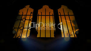 spooky halloween background video spooky derelict church windows with time lapse clouds and
