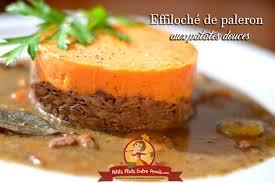 cuisiner du paleron de boeuf effiloché de paleron de boeuf aux patates douces petits plats
