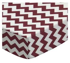 Mini Crib Sheet by Burgundy Chevron Zigzag Portable Mini Crib Sheets Sheetworld