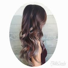 shag haircut brown hair with lavender grey streaks image result for brown and lilac balayage hair ideas pinterest