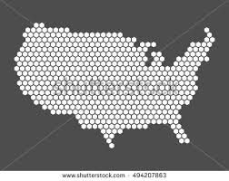 us vector map abstract vector map united states america stock vector 494207863