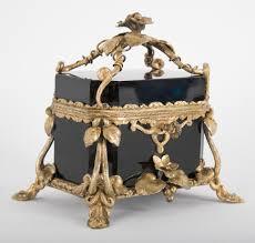 19th century black opaline glass box with key u2013 avery u0026 dash