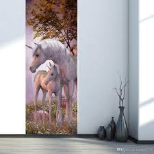 the forest unicorn door stickers 3d pvc self adhesive wallpaper the forest unicorn door stickers 3d pvc self adhesive wallpaper waterproof door decoration