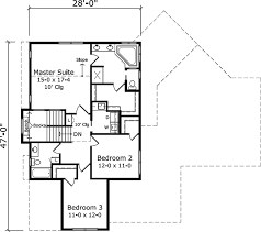 upper floor plan country style house plan 3 beds 2 5 baths 2469 sq ft plan 981 4