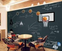 3d blackboard basket ball math wall paper wall mural decals study 3d blackboard basket ball math wall paper wall mural decals study room art decor idcwp