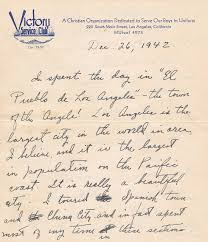 wwii letters soldier in training wwii letter las angeles victory