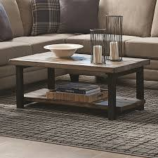 Rectangular Coffee Table Shop Living Rustic Brown Pine Wood Rectangular Coffee Table
