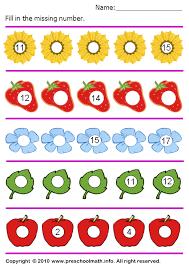 free preschool ordering number math worksheets