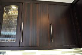 Glass Kitchen Cabinet Hardware Modern Kitchen Bamboo Cabinets Long Handles And Glass Window