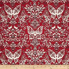 black white u0026 currant 6 butterfly damask red discount designer