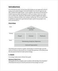 social media business strategy template strategy templates