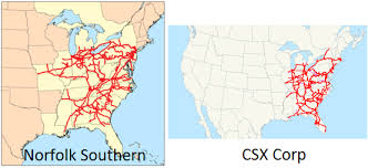 csx railroad map csx an alternative to investing in norfolk southern csx